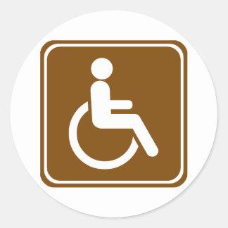 Handicap Accessible Recreational Facilities Sign Classic Round Sticker