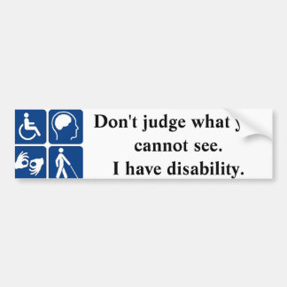 Handicap Bumper Sticker