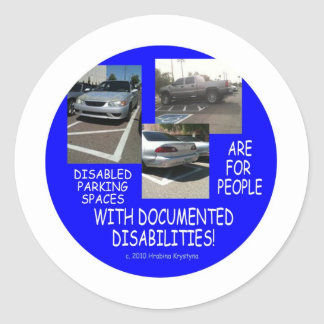 HANDICAP PARKING 9 CLASSIC ROUND STICKER