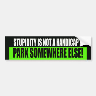 Handicap Parking Bumper Sticker