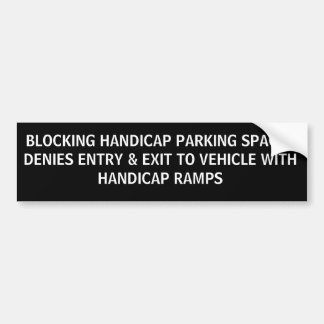 HANDICAP PARKING PHRASES 2D BUMPER STICKER