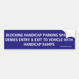 HANDICAP PARKING PHRASES 2E BUMPER STICKER