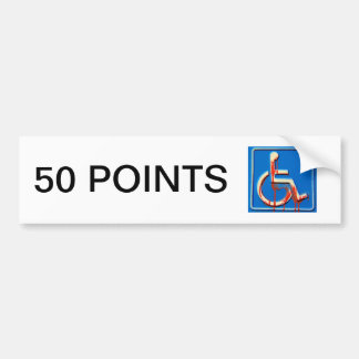 Handicap Points Bumper Sticker