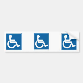Handicap Sign Bumper Sticker