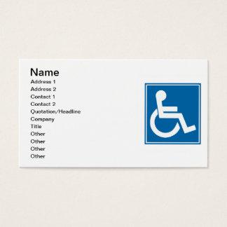 Handicap Sign Business Card