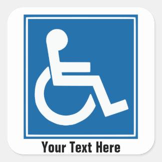 Handicap Sign Stickers Labels