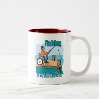 Handicap Wheelchair Fishing Two-Tone Coffee Mug