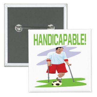 Handicapable Pinback Button