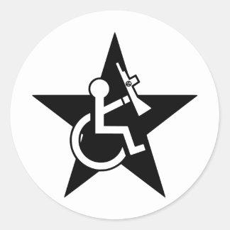 Handicapable Round Sticker