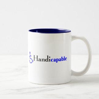 Handicapable (Wheelchair) Two-Tone Coffee Mug