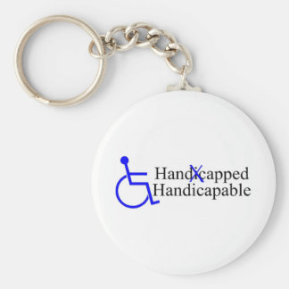 Handicapped Handicapable 2 Basic Round Button Keychain