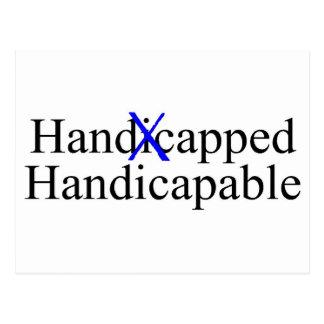 Handicapped Handicapable Postcard