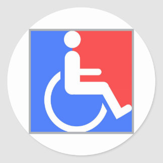 Handicapped original design! classic round sticker