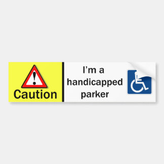 Handicapped Parker Bumper Sticker
