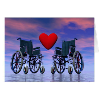 Handicapped persons love - 3D render Card