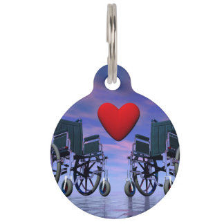 Handicapped persons love - 3D render Pet ID Tag