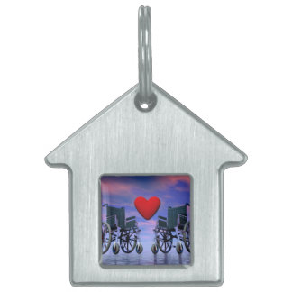 Handicapped persons love - 3D render Pet Name Tag