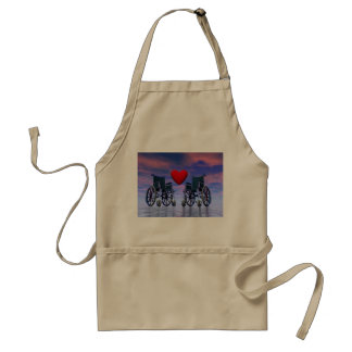 Handicapped persons love - 3D render Standard Apron
