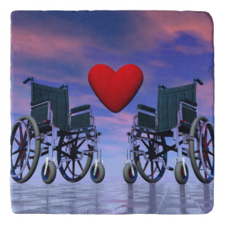 Handicapped persons love - 3D render Trivet