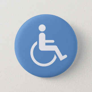 HANDICAPPED sign 2 Inch Round Button