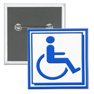 Handicapped Stylish Symbol Blue Pins