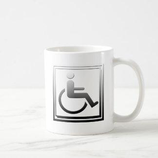 Handicapped Stylish Symbol Chrome Silver Coffee Mug
