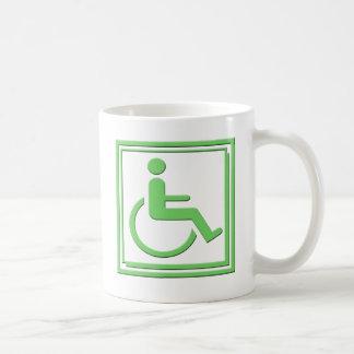 Handicapped Stylish Symbol Green Coffee Mug