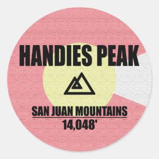 Handies Peak Classic Round Sticker