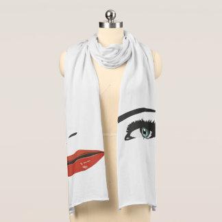 Handkerchief popart beauty woman scarf