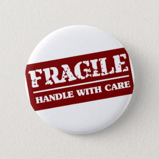 Handle with care 2 inch round button