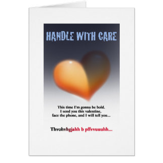 Handle with care card