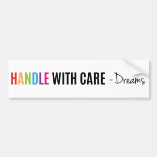 Handle with care super cool & crazy bumper sticker