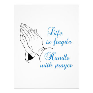 HANDLE WITH PRAYER PERSONALIZED LETTERHEAD