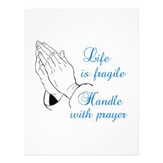 HANDLE WITH PRAYER CUSTOM LETTERHEAD