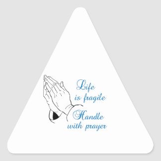 HANDLE WITH PRAYER TRIANGLE STICKER