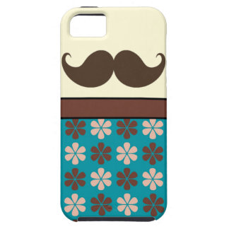 Handlebar Mustache on Retro Background iPhone 5 Cover