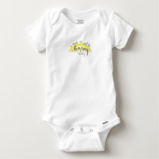 Handlettered Be Happy Today Baby Bodysuit