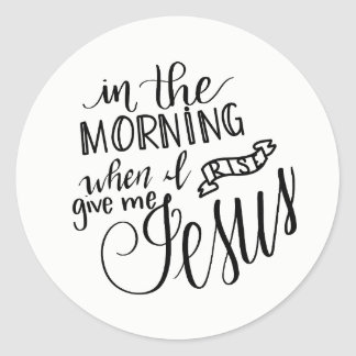 Handlettered Christian Quote Sticker