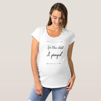 Handlettered Maternity T-Shirt, Scripture Quote Maternity T-Shirt