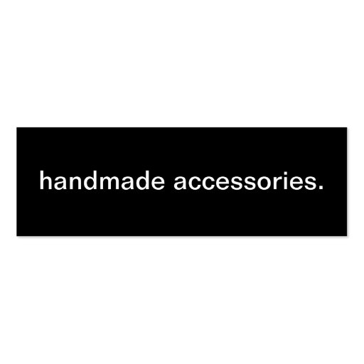 Handmade Accessories Business Card