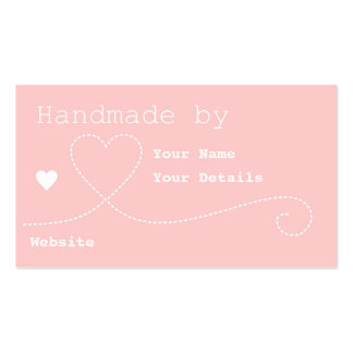 Handmade by: Craft Business Tags - Light Pink Business Card