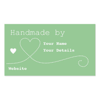 Handmade by: Craft Business Tags - Mint Green Business Card