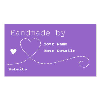 Handmade by: Craft Business Tags - Royal Purple Business Card