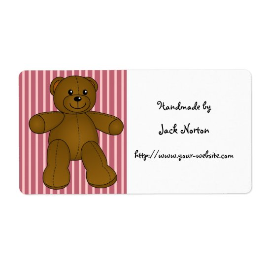 Handmade by - Cute brown teddy bear