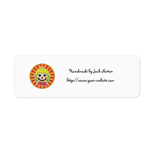 Handmade by - Funny clown Return Address Label