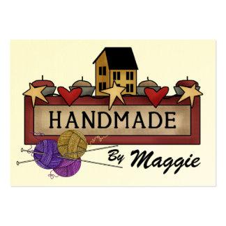 Handmade By (Knitting) ...  SRF Large Business Card
