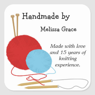 Handmade by Knitting Stickers