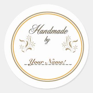Handmade By... Round Sticker