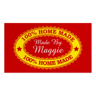 """Handmade By"" - Standard Size - SRF Business Card Template"