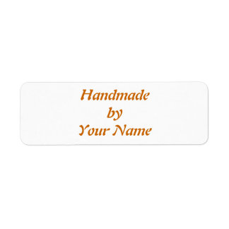 Handmade by template labels